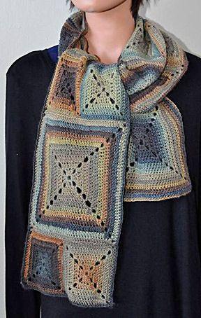 Beautiful new FREE Mini Mochi Crochet Block Scarf by Cathy Campbell ...