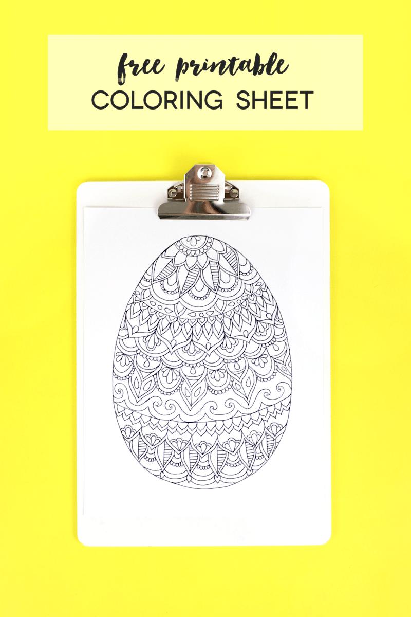 Free printable easter egg coloring sheet @linesacross | preschool ...