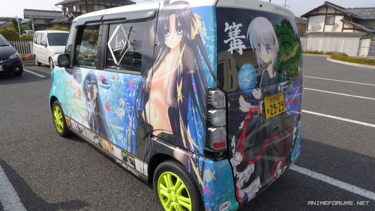 Littlebustersjapananimecardecaljpg Anime - Car anime stickers