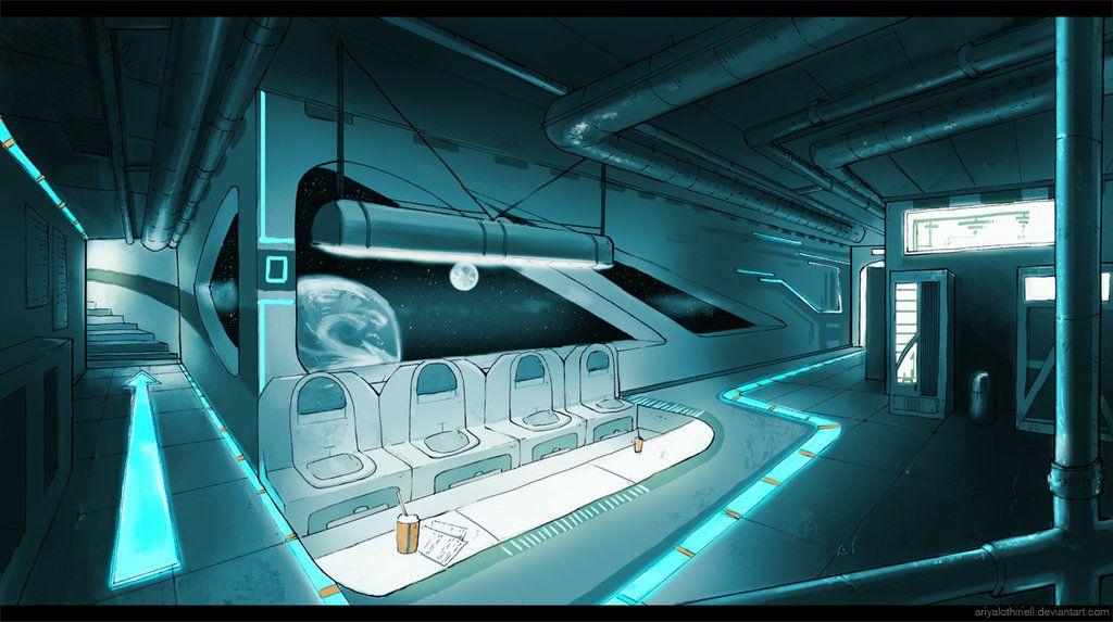 Sci Fi Interior By Elbenherzart Deviantart Com On Deviantart