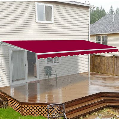 Aleko 10 W X 8 D Slope Patio Awning Wayfair Patio Canopy Patio Flooring Patio Awning