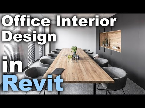 7 Office Interior Design In Revit Tutorial Youtube Good Render