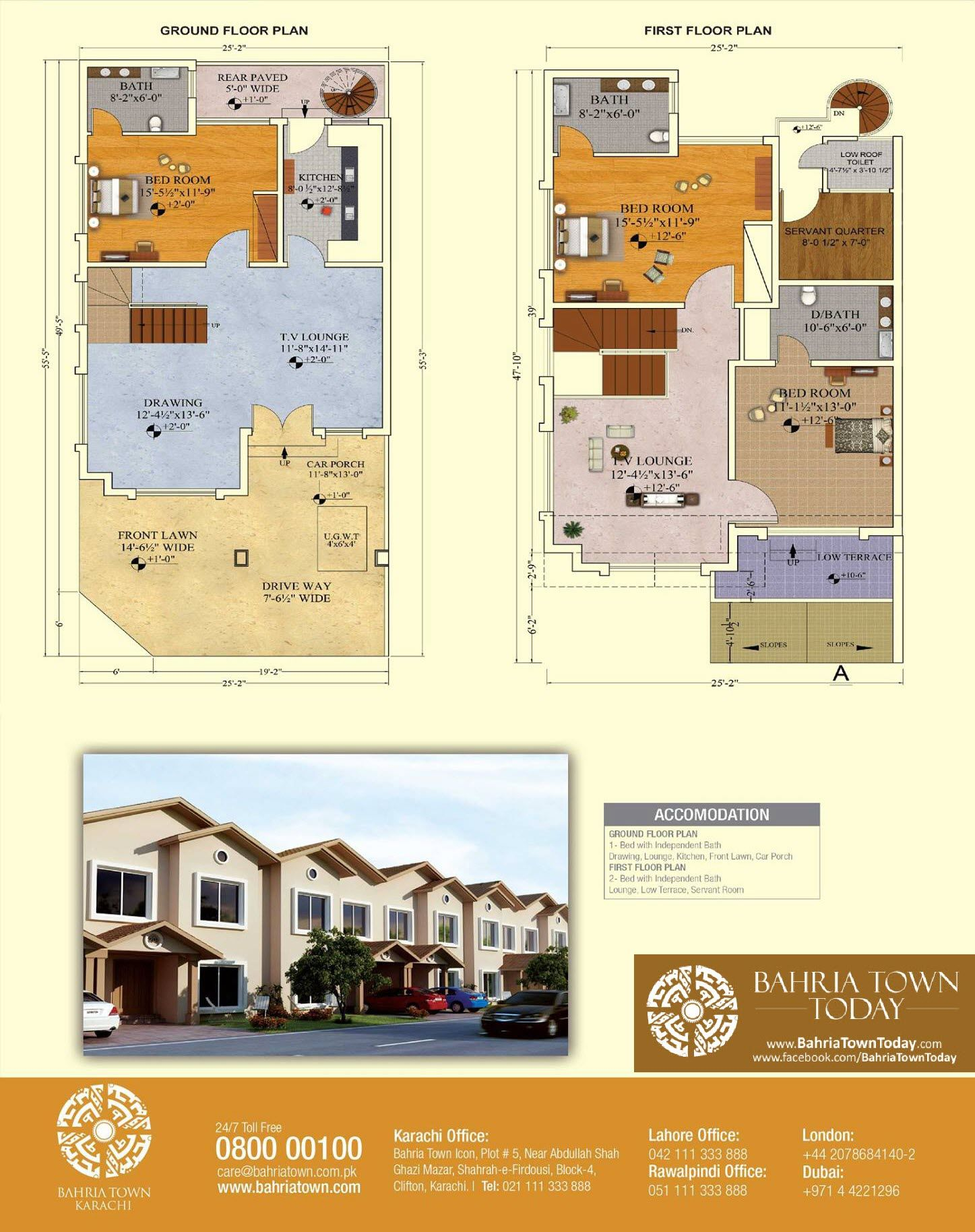 Floor Plan Of 125 Square Yards Bahria Homes Bahria Town
