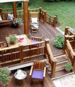 Great I Love Multilevel Decks And Wood! But Just Wish I Could Have A Deck And .of  Course, For My Dream Home, There Would Also Be A Pool And Beautiful Garden  Off ...