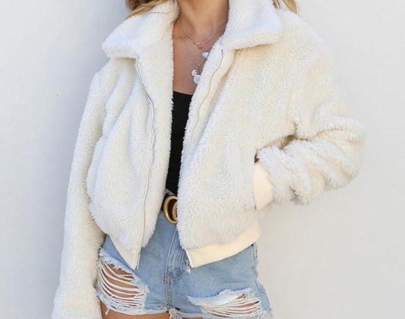 af6c057d408 SALE Nadafair plus size fleece faux fur teddy coats women winter thick  zipper fur jacket coat female warm plush overcoat streetwear  jacket  coat