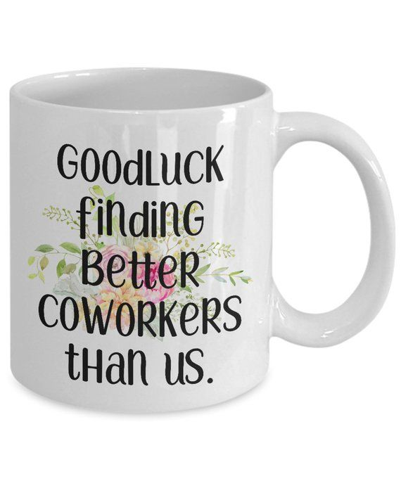 0ab493b2fe8c Goodluck funny coworker mugs gifts best coffee tea cup friend Goodbye  Leaving Farewell Going Away me