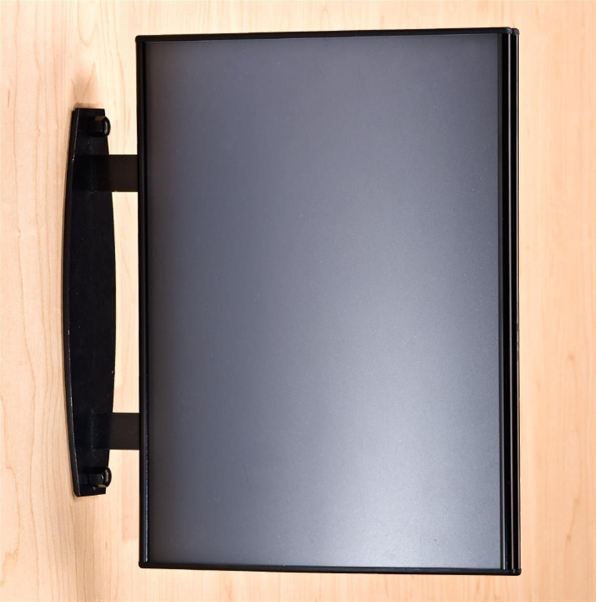 8 5 X 11 Curved Sign Holder For Wall Or Ceiling Double Sided Snap Out Lens Black Sign Holder Wall Signs Black Hallway