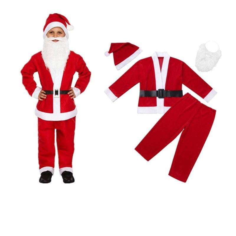 BABY BOYS KIDS  LITTLE SANTA COSTUME Father Christmas RED FANCY DRESS OUTFIT