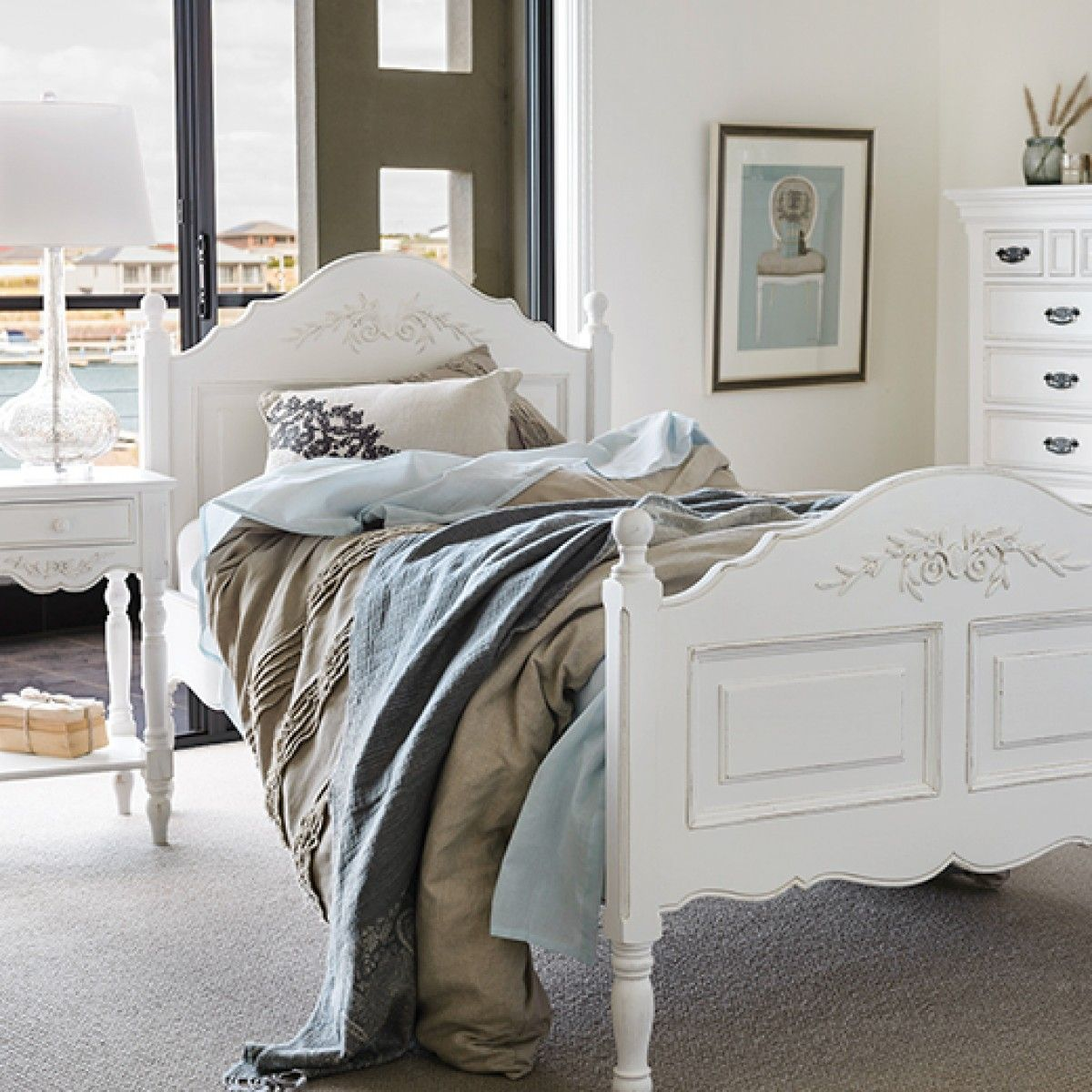 Buy Online Early Settler French Provincial Single Bed Decor - Settler bedroom furniture