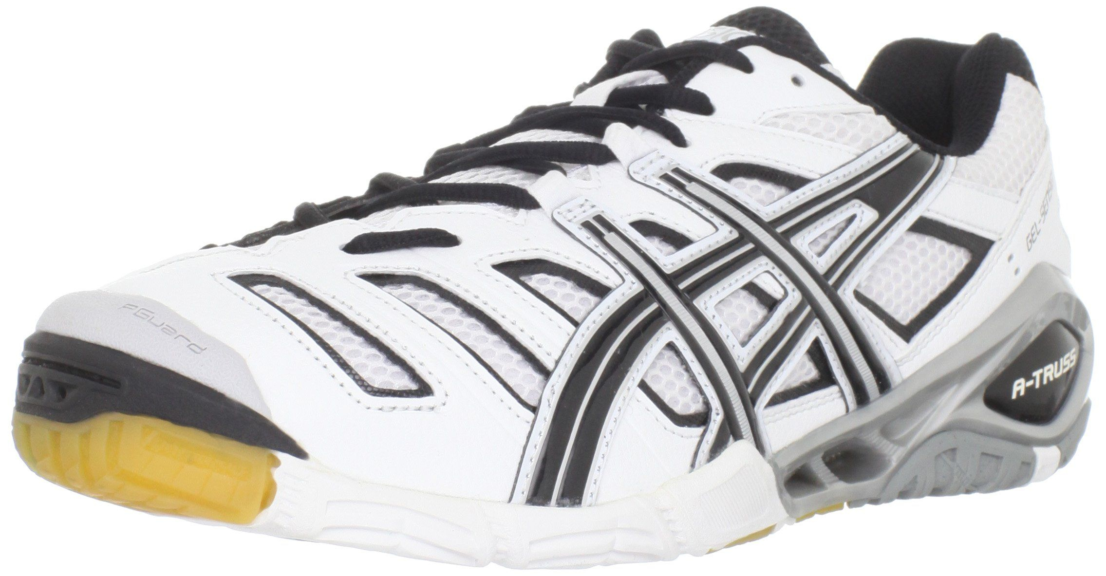 ASICS Men's GEL-Sensei 4 Volleyball Shoe,White/Black/Silver,6 M US ...