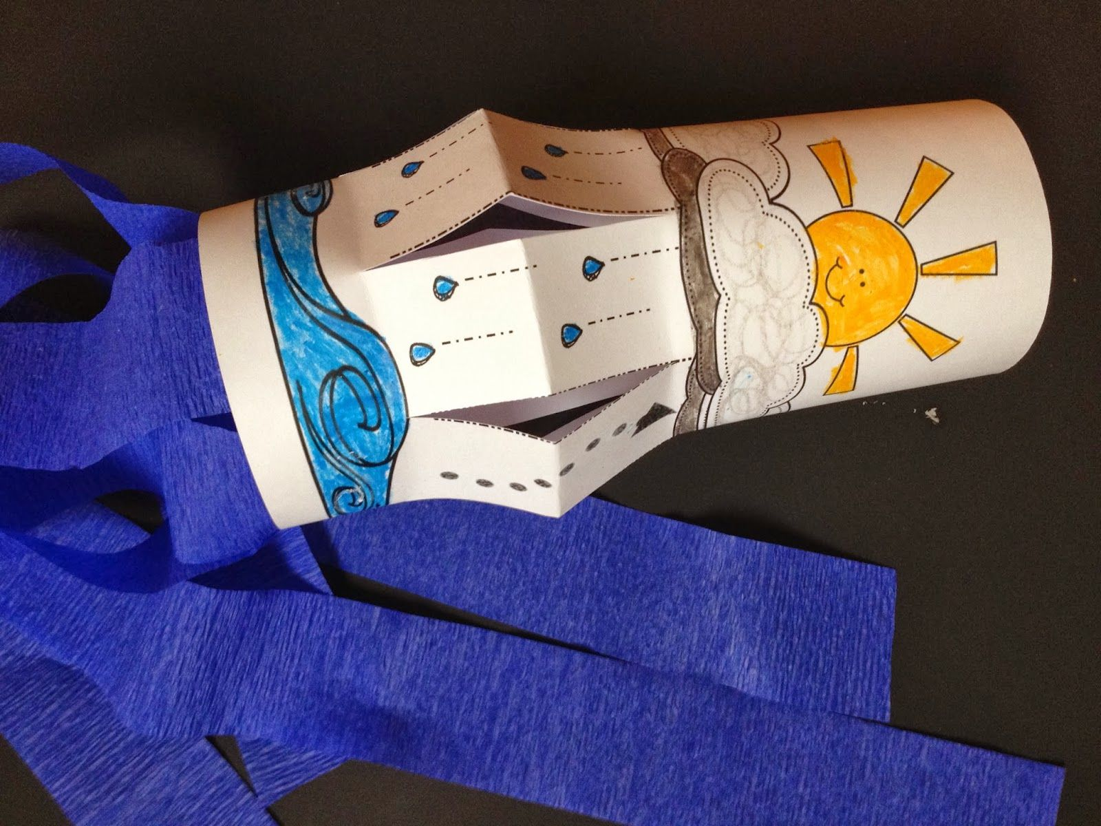 water cycle craft ideas water cycle wind sock craft for weather science 5704