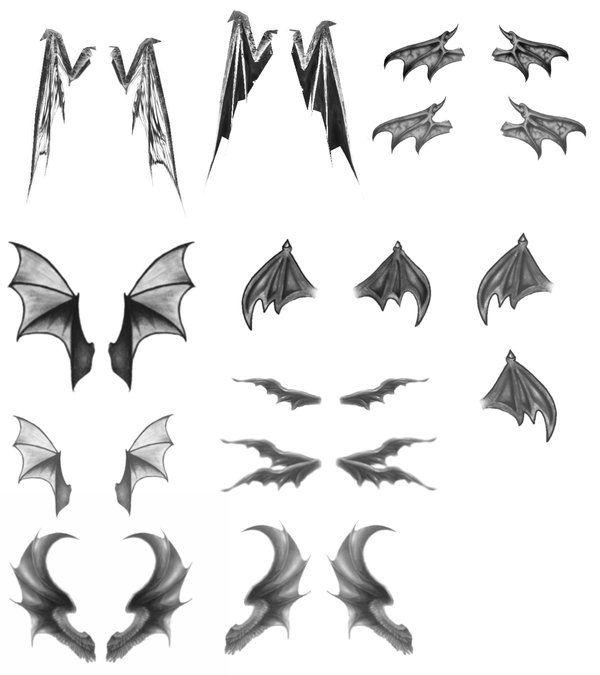 Anime Demon Wings Google Search Demon Drawings Wings Drawing Wings Sketch