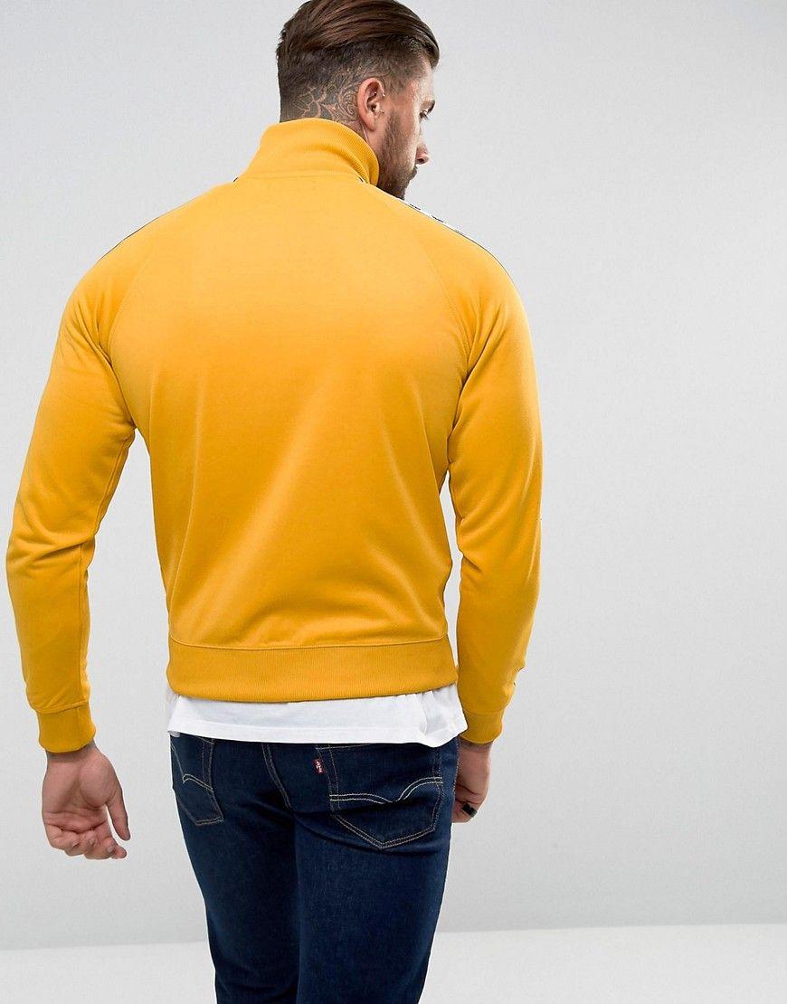 hur man köper bästsäljande lägre pris med Fred Perry Laurel Wreath Tape Track Jacket In Yellow - Yellow ...