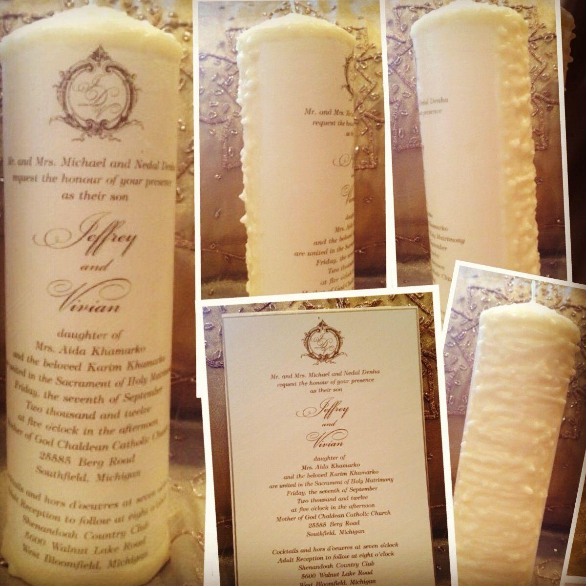 Wedding Invitation Candles: Candle Wedding Personalized Invitation Unity Keepsake