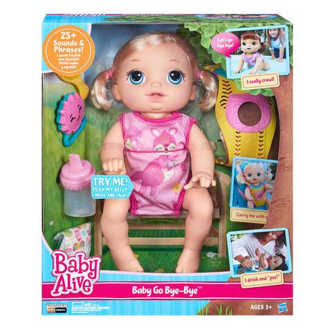 There S Many Ways To Play With The Baby Go Bye Bye Doll Better Keep An Eye On Her Because She Crawls And Tal Baby Dolls For Kids Baby Alive Dolls Baby Alive