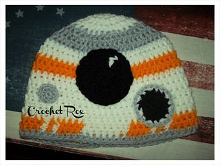 Amigurumi Star Wars Patterns Free : Star wars bb droid hat by crochet rox free crochet pattern