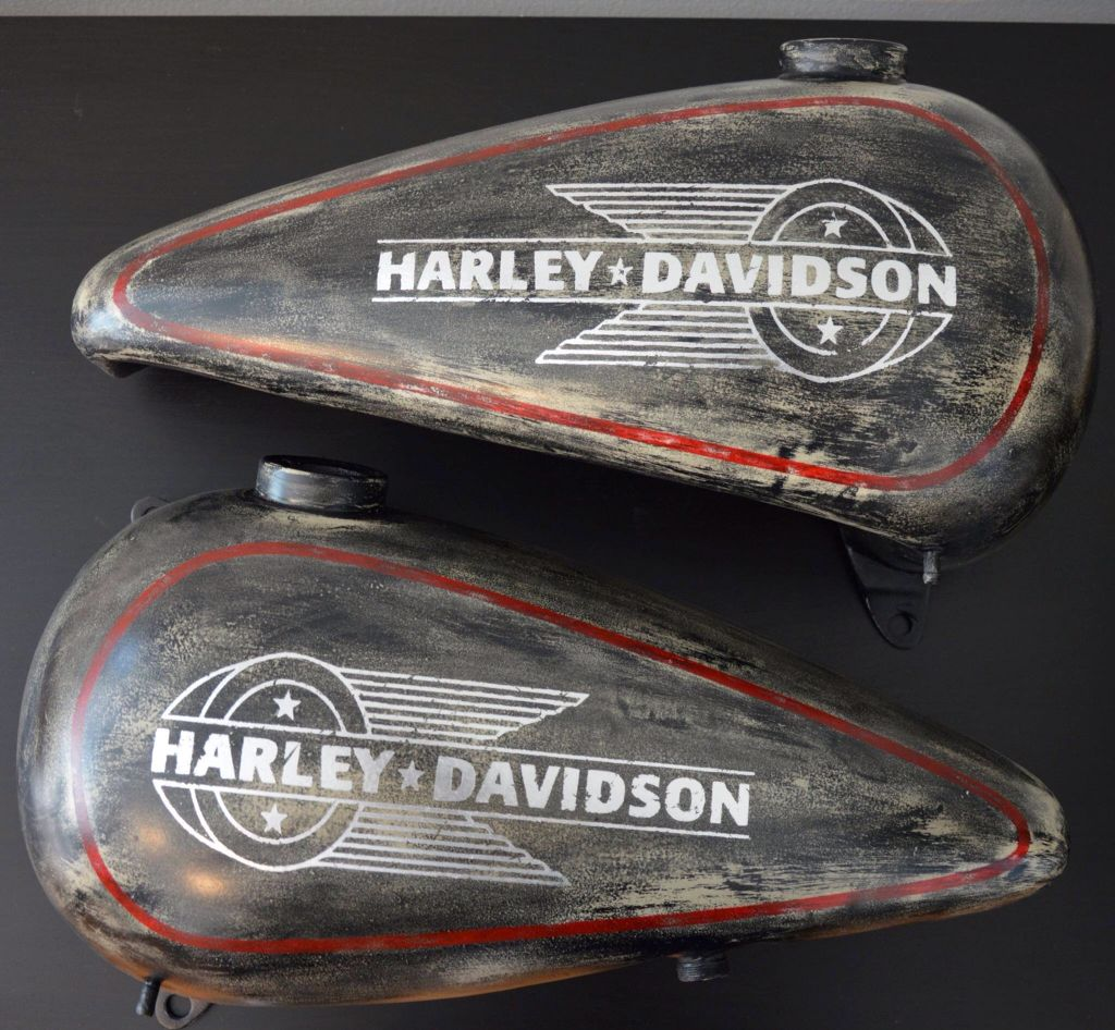 harley davidson tank ironhead airbrushed umbedesign. Black Bedroom Furniture Sets. Home Design Ideas