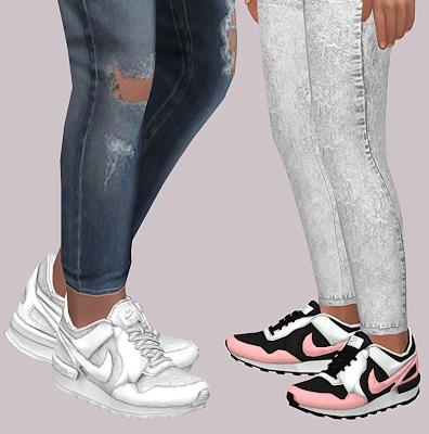 The Sims 4 Mody: Adidasy Nike dla maluchów i dzieci od Lumy