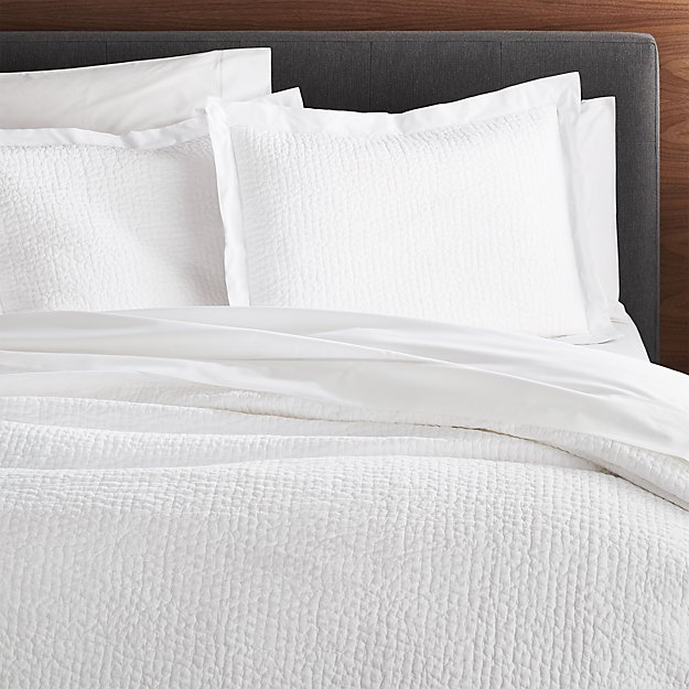 Celeste White Solid Quilt King Reviews Crate And Barrel White Quilt Bedding King Quilt Solid Quilt
