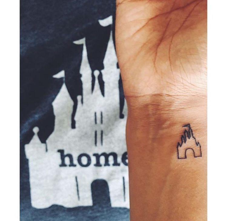 Photo of Tiny Disney wdw castle tattoo Disney Tattoo