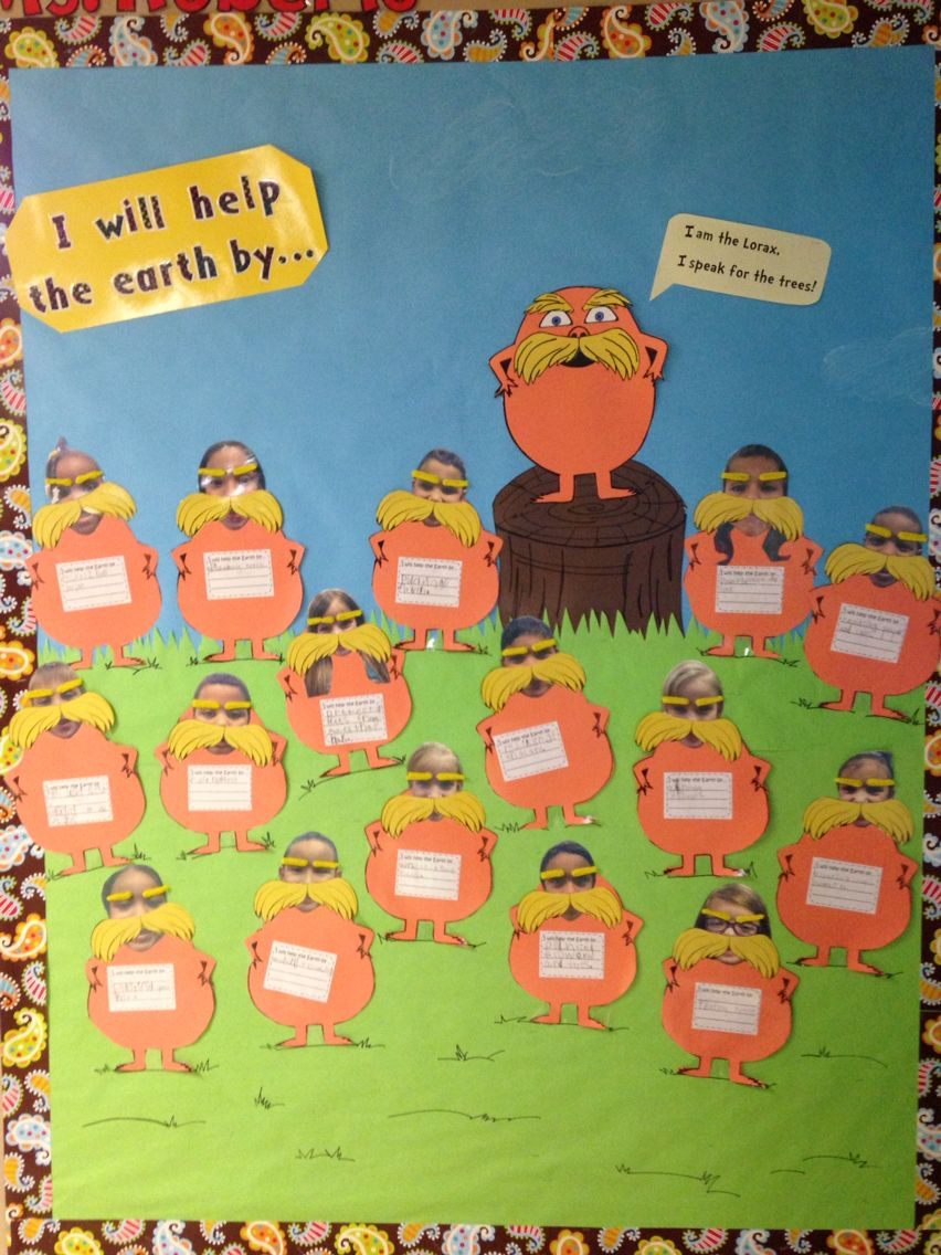 The Lorax Bulletin Board The Lorax Dr Seuss Classroom Lorax