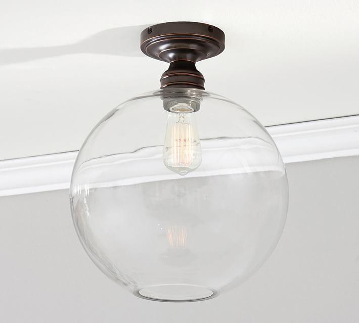 Pottery Barn PB Classic Flushmount - Glass Globe