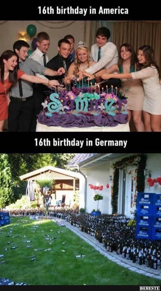16. Geburtstag in Amerika / Deutschland.. | Lustige Bilder