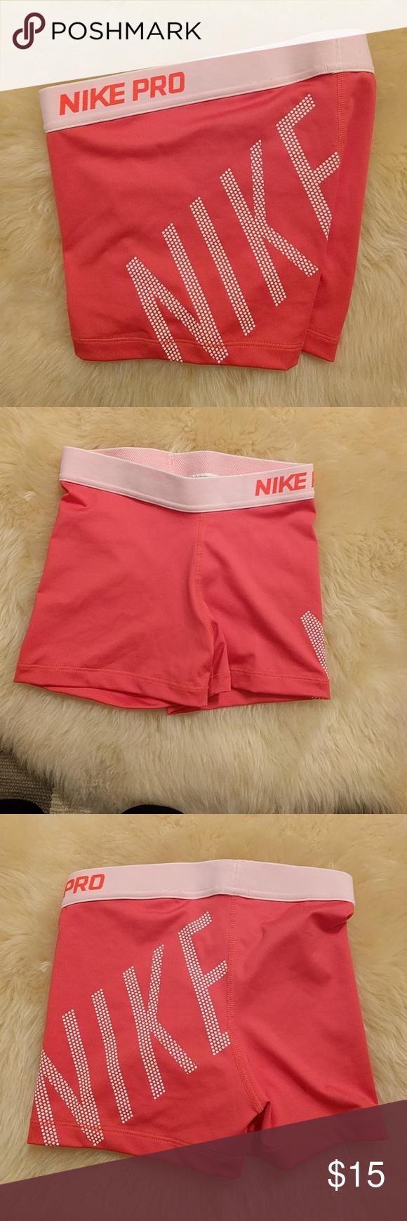 Nike pro pink logo shorts Logo shorts, Nike pros, Pink logo