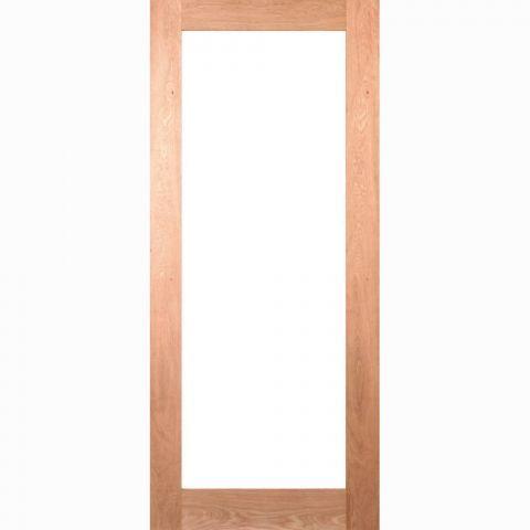 Deanta Walden Clear Glass Oak Unfinished Internal Door - DoorsWorld