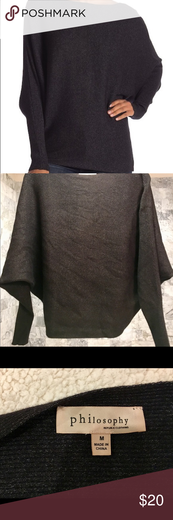 Philosophy Dolman Sleeve Sweater M Dolman Sleeve Sweater Dolman Sleeve Sweaters
