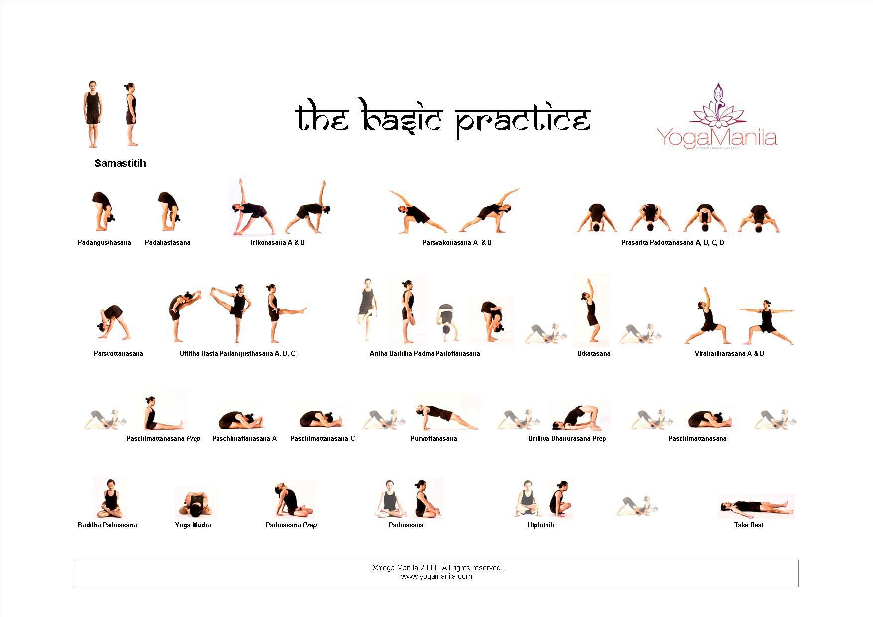 Ashtanga Yoga Basic Primary Series Poses Share With Your Friends
