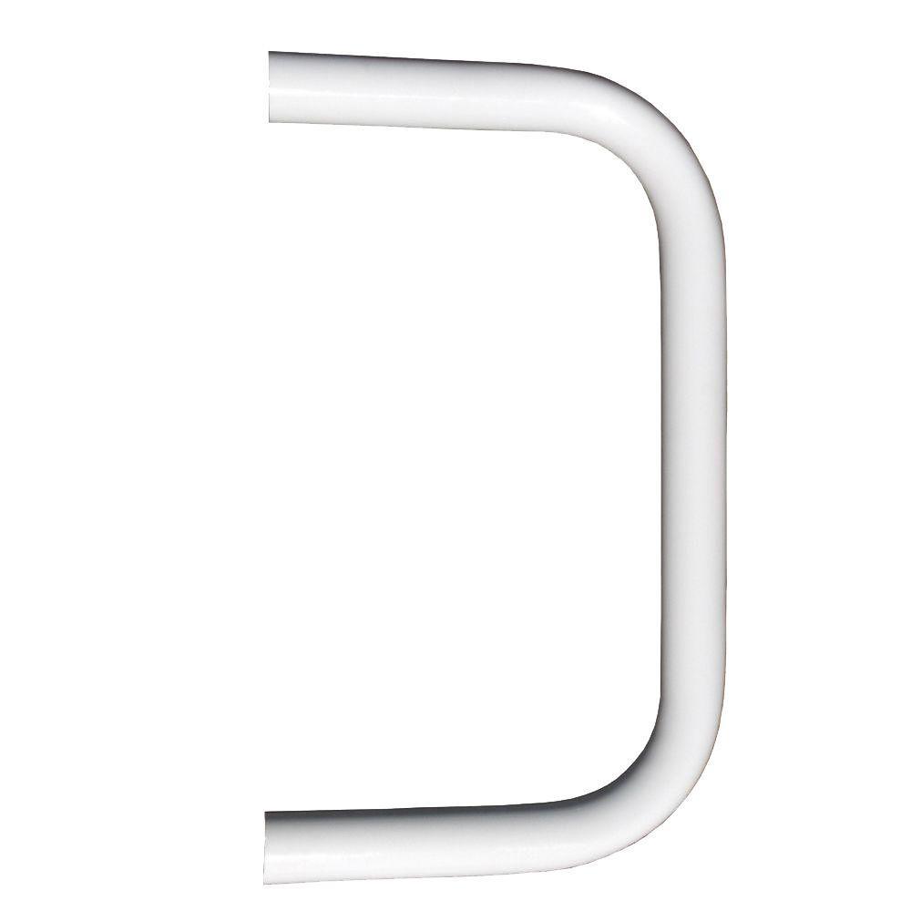 Best Ez Handrail 1 9 In Aluminum Round Ada Handrail White End 400 x 300