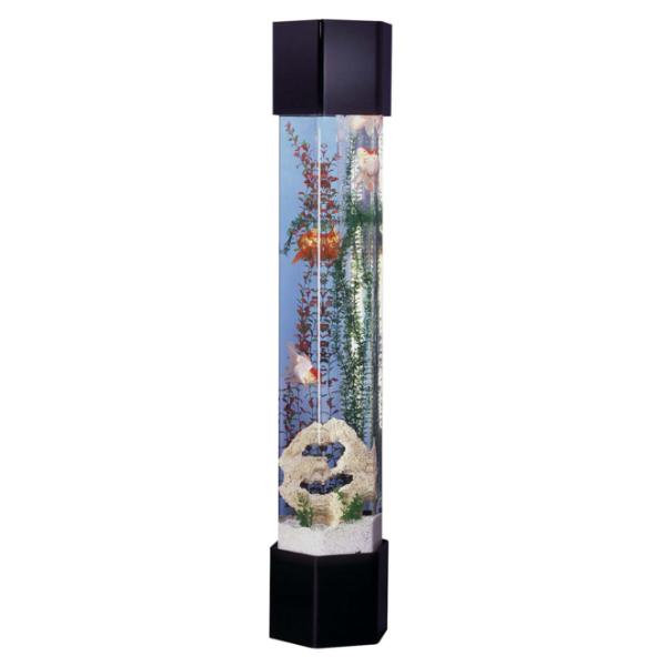 Midwest Tropical Hexagon Aquatower 50 Gallon Freshwater Acrylic Aquarium Ht 1 Aquarium Set Aquarium Decorations Aquarium Decor
