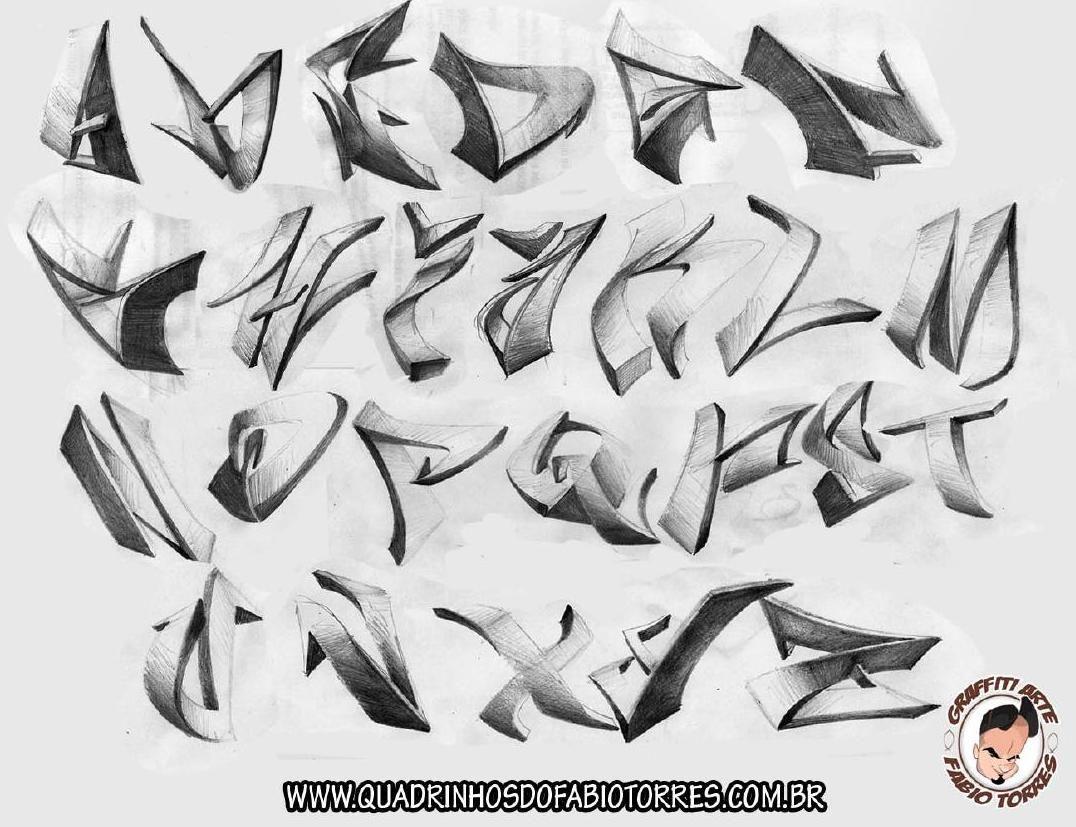 Graffiti Arte 3d Alphabet By Triagem One Alfabeto De Grafiti