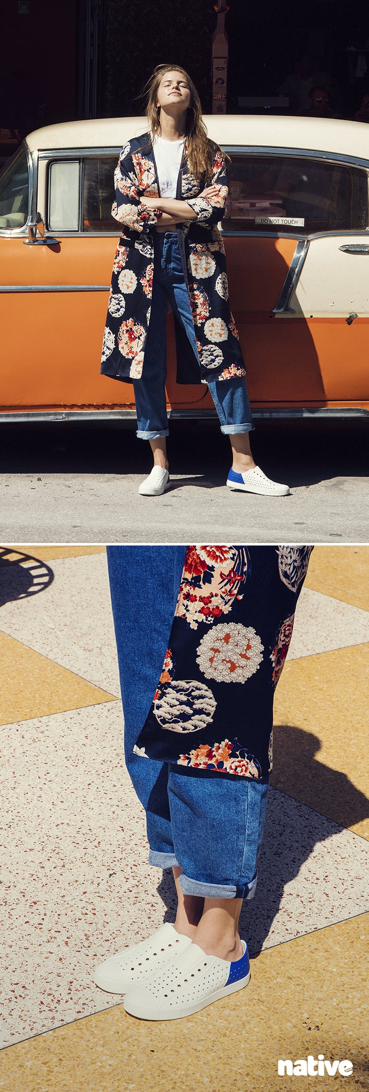 Sprint into sunshine. The Native Shoes