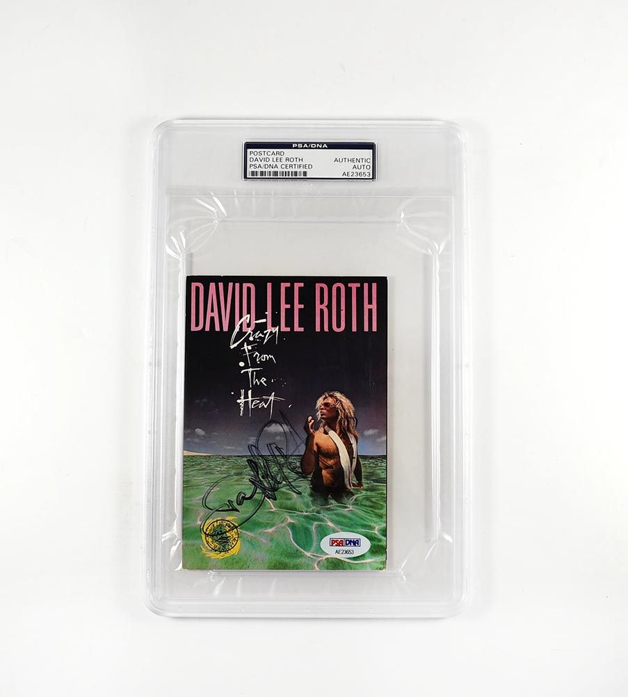 David Lee Roth Van Halen Signed Encapsulated Postcard Certified Authentic Psa Dna Coa With Images David Lee Roth David Lee Van Halen