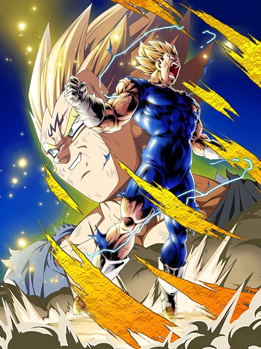 Majin Vegeta Dragon Ball Z Dokkan Battle Legends Wallpaper Dbz