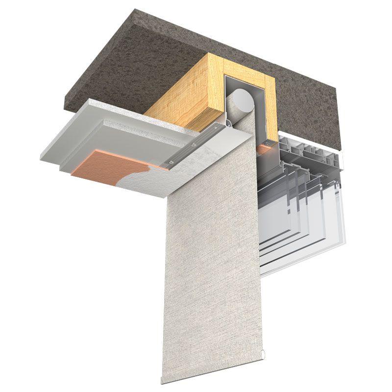 Blindspace Illustration Blind Concealed In Ceiling Electric Blinds Blinds For Windows Blinds For Windows Living Rooms