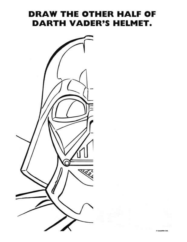 Free Printable Star Wars Party Coloring Pages And Activity Sheets On The Disney Site