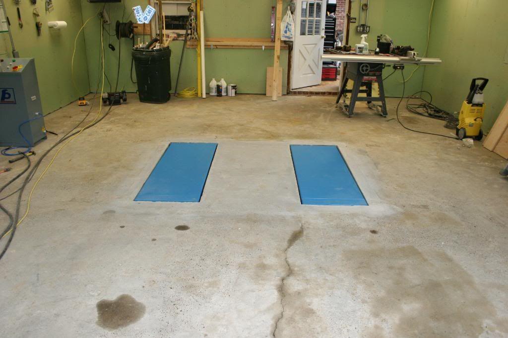 Man Cave Garage Journal : In floor scissor lift install the garage journal board cool
