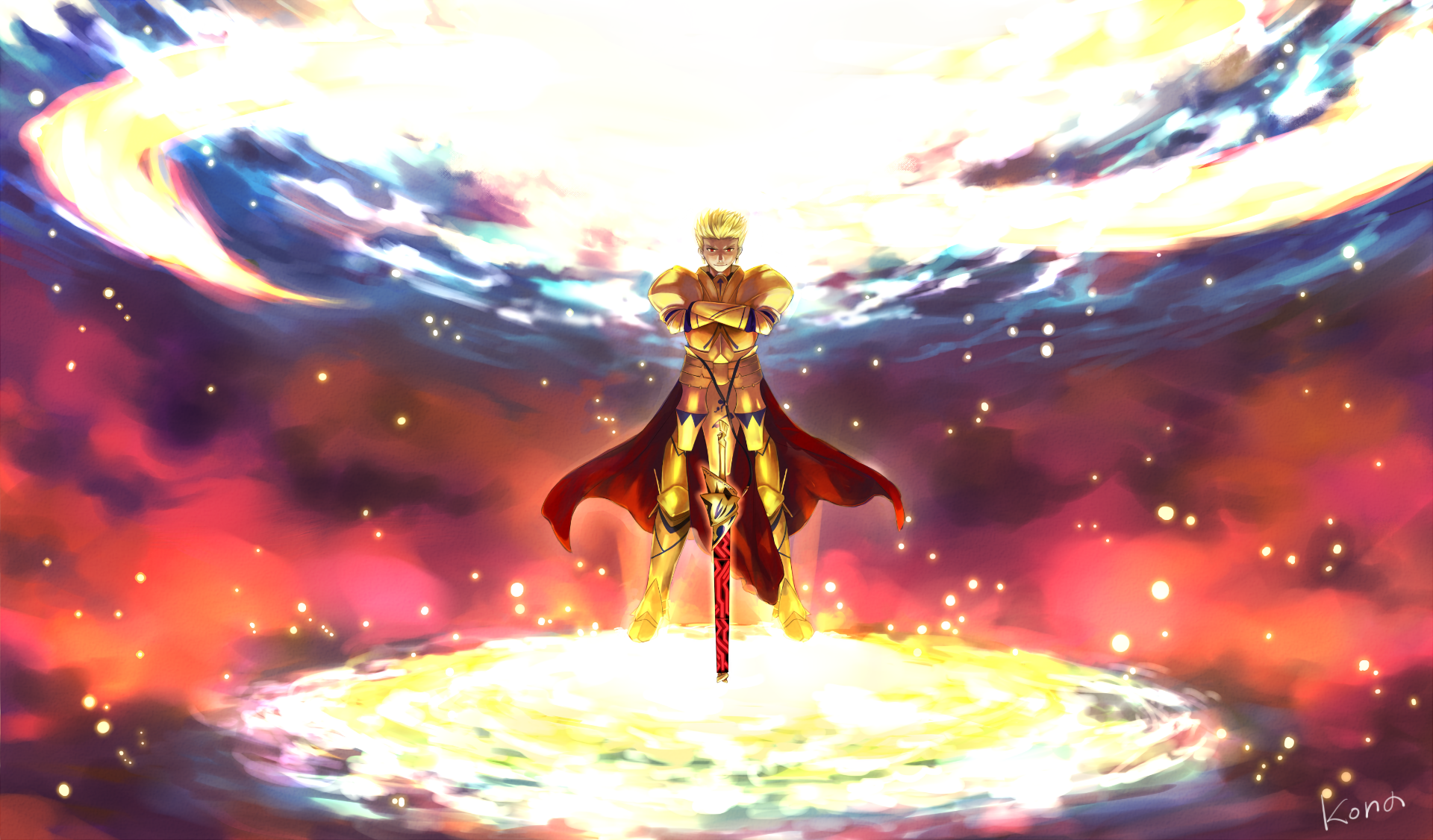 Anime Fategrand Order Gilgamesh Fatestay Night Fondo De