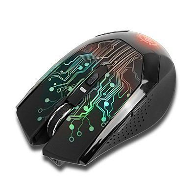 ENHANCE Wireless Optical Gaming Mouse with 3500 DPI & 7 Color Changing LED - for