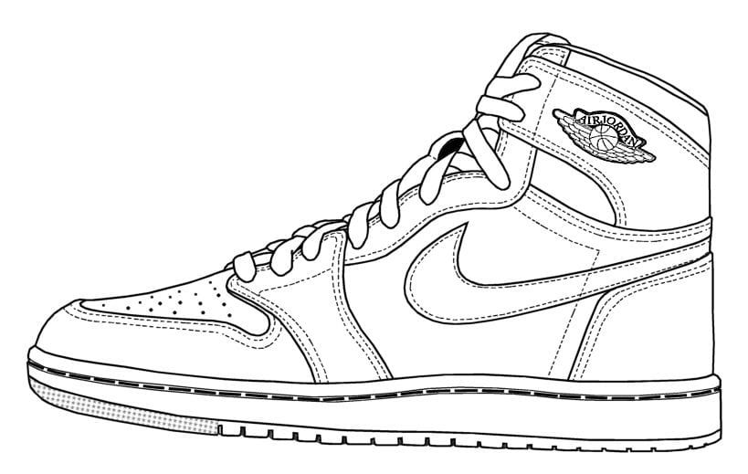 Jordan Shoes Coloring Sheets Basketball Shoe Coloring Pages Free