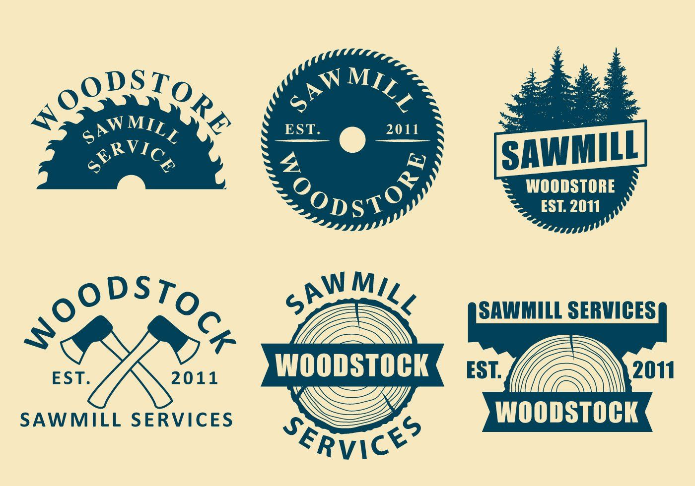Maybe you need fresh ideas for your new logo with sawmill