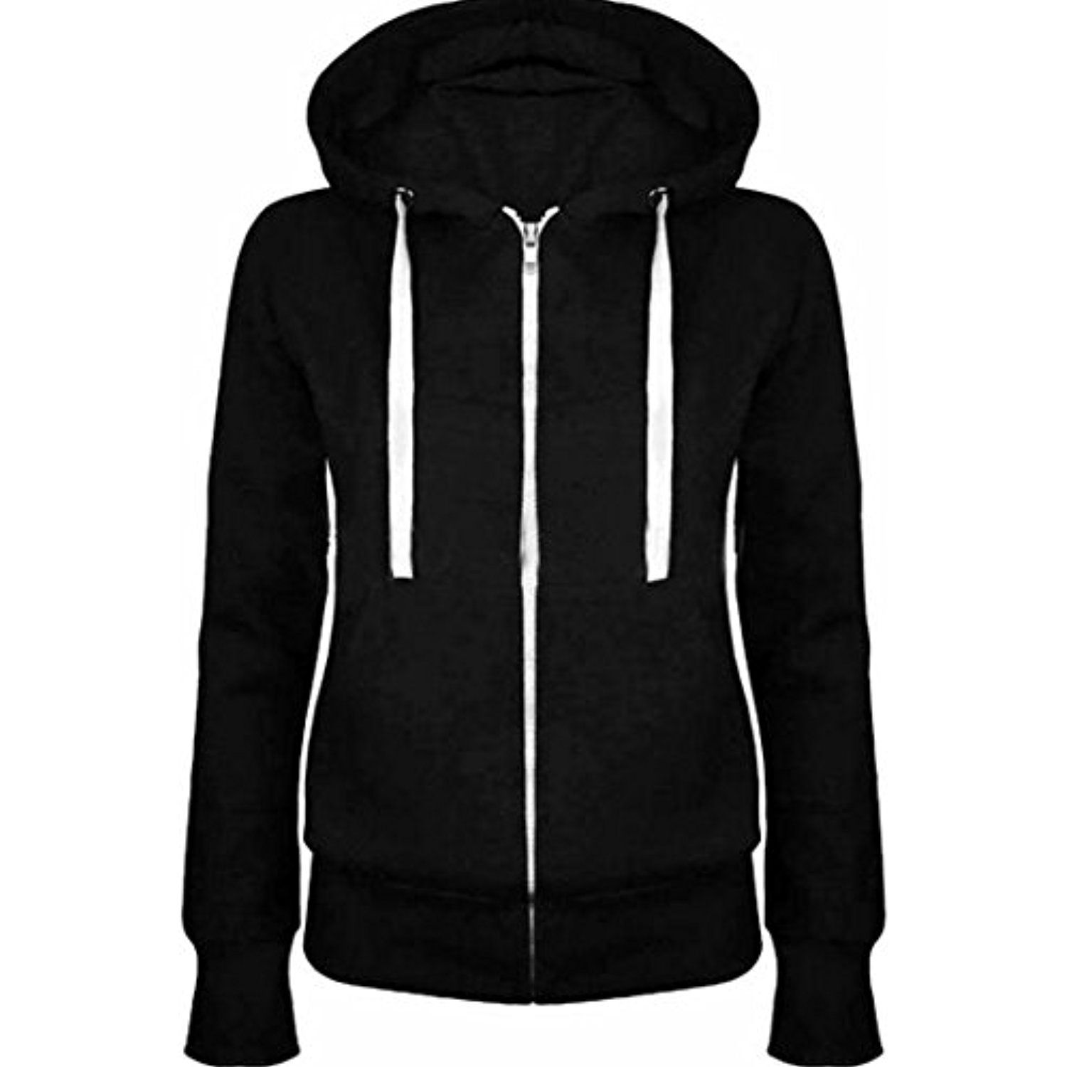 Generic Mens Long Sleeve Hoodies Solid Regular Fit Athletic Pullover Sweatshirts