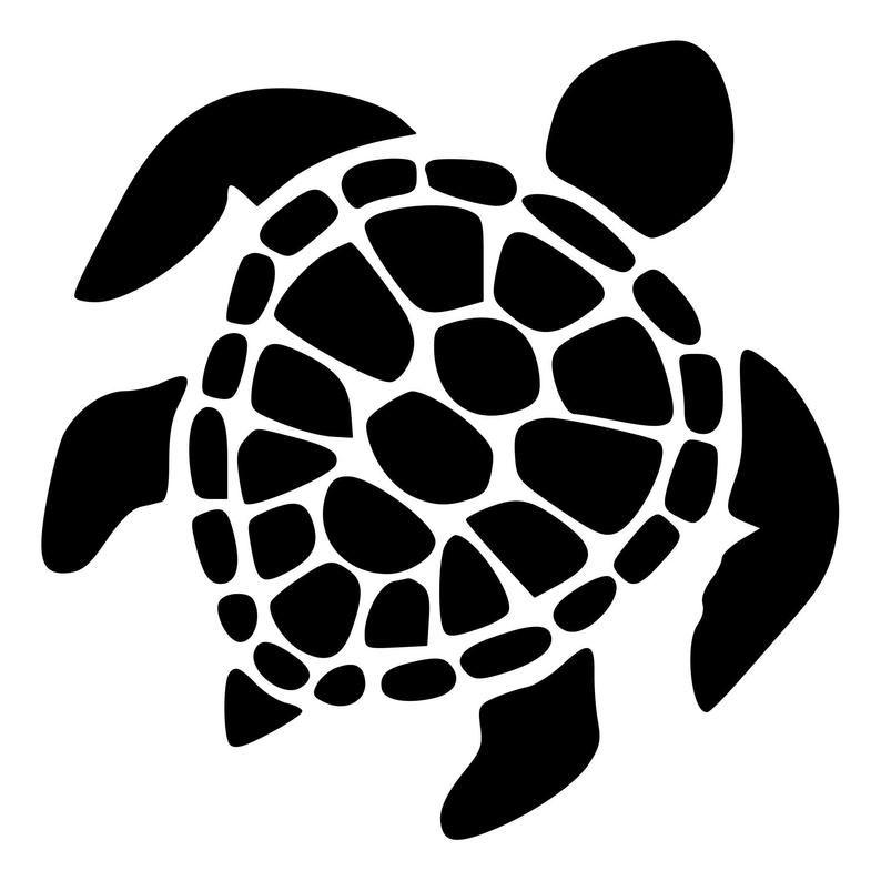 Graceful Sea Turtle Rubber Stamp Mounted Wood Block Art Stamp Turtle Silhouette Turtle Art Turtle Outline