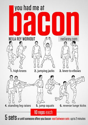 You had me at Bacon Workout and other geek-inspired calorie-burners…
