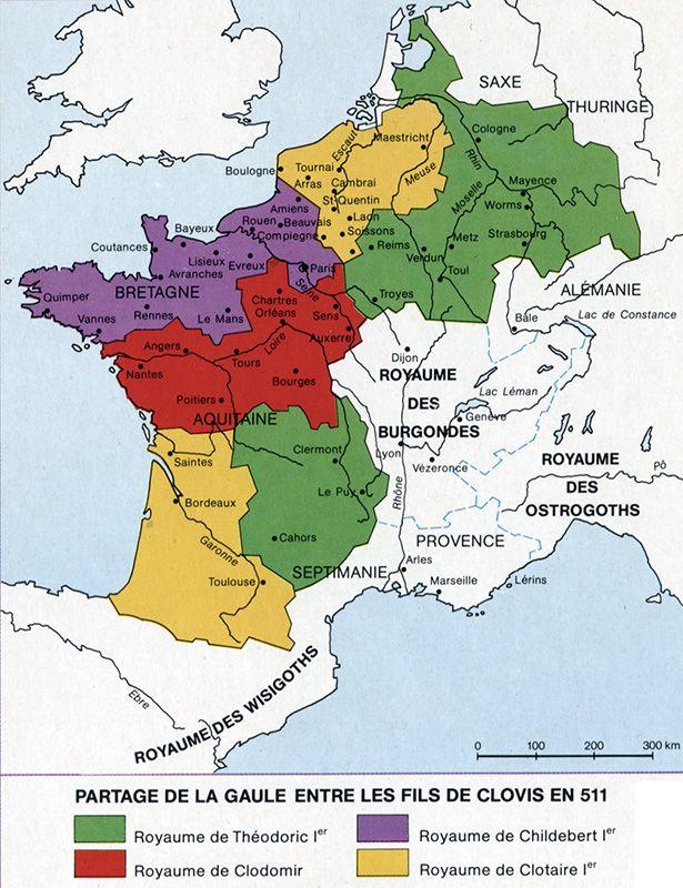 Premier Partage Du Royaume Franc En 2020 Royaume De France