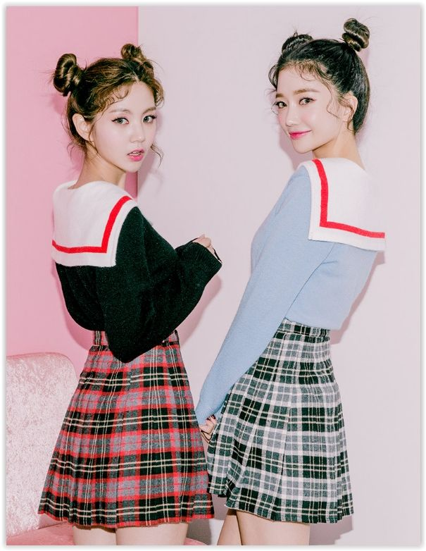 chuu - plaid -line mini pleat