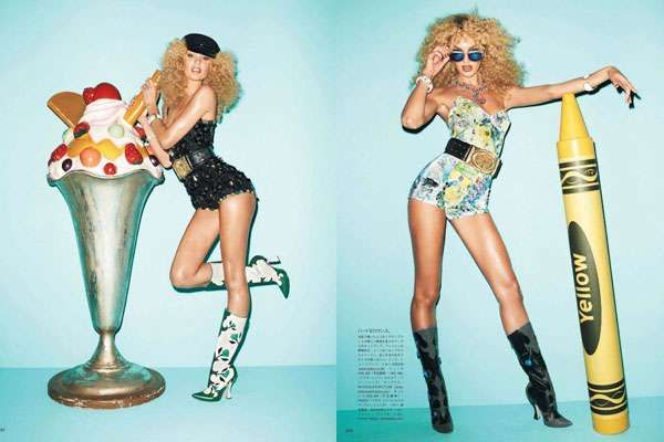 Youthful Prop Editorials - The Vogue Japan June 2012 Photoshoot Stars a Cheeky Candice Swanepoel (GALLERY)